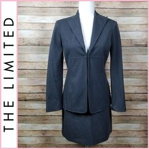 The Limited Gray Blazer & Skirt Suit